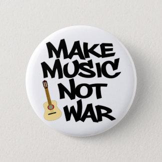 Bóton Redondo 5.08cm Faça a guerra da música não a guitarra acústica
