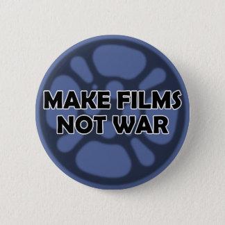 """Bóton Redondo 5.08cm """"Faça botão não da guerra dos filmes"""""""
