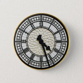 Bóton Redondo 5.08cm Face do relógio de Big Ben