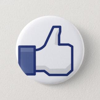 """Bóton Redondo 5.08cm Facebook: Um real """"como"""" o botão"""