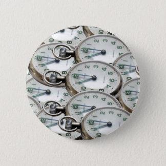 Bóton Redondo 5.08cm Faces do relógio múltiplas