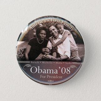 Bóton Redondo 5.08cm Família de Obama - botão