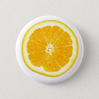 Bóton Redondo 5.08cm Fatia alaranjada - crachá do Pin do botão da fruta
