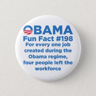 Bóton Redondo 5.08cm Fatos de divertimento de Obama