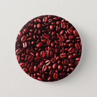 Bóton Redondo 5.08cm Feijões de café encarnados