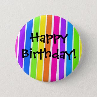 Bóton Redondo 5.08cm Feliz aniversario!