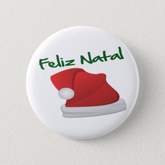 Bóton Redondo 5.08cm Feliz Natal