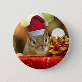 Bóton Redondo 5.08cm Feliz Natal bonito do Chipmunk
