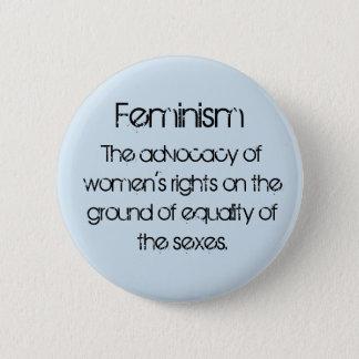 Bóton Redondo 5.08cm Feminismo nos azuis bebés