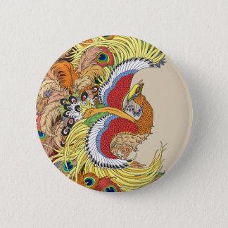 Bóton Redondo 5.08cm feng huang de phoenix do chinês