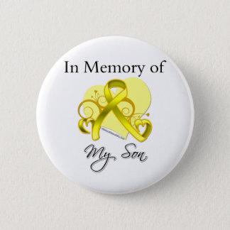 Bóton Redondo 5.08cm Filho - na memória do tributo militar