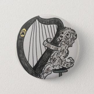 Bóton Redondo 5.08cm Filhote de cachorro da harpa
