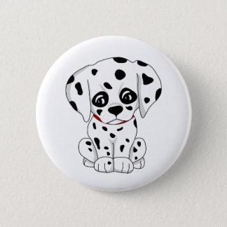 Bóton Redondo 5.08cm Filhote de cachorro Dalmatian bonito