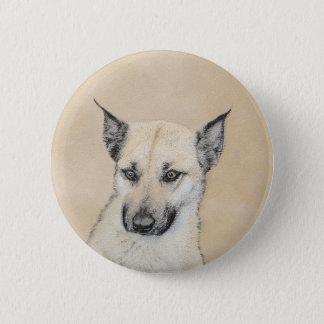 Bóton Redondo 5.08cm Filhote de cachorro de Chinook (orelhas aguçado)