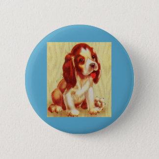Bóton Redondo 5.08cm filhote de cachorro pequeno bonito do lebreiro