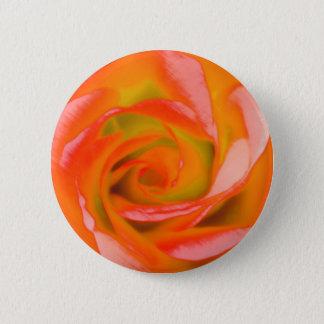 Bóton Redondo 5.08cm Fim-acima cor-de-rosa da laranja