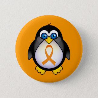 Bóton Redondo 5.08cm Fita alaranjada do pinguim do presente da