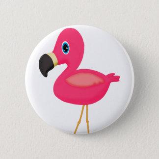 Bóton Redondo 5.08cm Flamingo do bebê