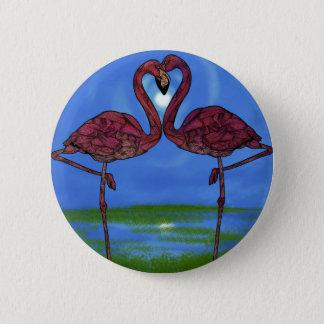Bóton Redondo 5.08cm Flamingos