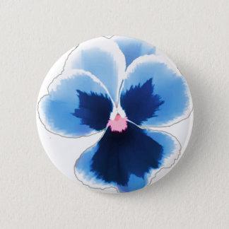 Bóton Redondo 5.08cm Flor azul 201711c do amor perfeito