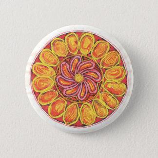 Bóton Redondo 5.08cm Flor celta - botão abstrato