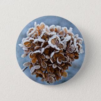 Bóton Redondo 5.08cm Flor com cristais de gelo