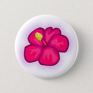 Bóton Redondo 5.08cm Flor cor-de-rosa de Havaí