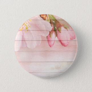 Bóton Redondo 5.08cm Flor de cerejeira