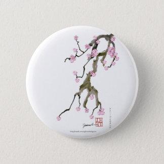 Bóton Redondo 5.08cm Flor de cerejeira 17 Tony Fernandes