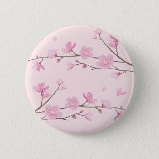 Bóton Redondo 5.08cm Flor de cerejeira - rosa