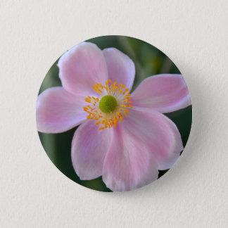 Bóton Redondo 5.08cm Flor japonesa cor-de-rosa da anêmona