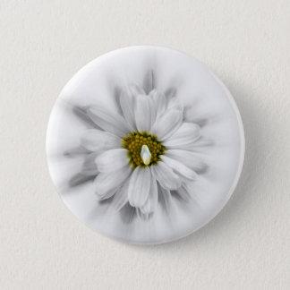 Bóton Redondo 5.08cm flor nas máscaras do branco
