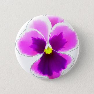 Bóton Redondo 5.08cm Flor roxa 201711 do amor perfeito