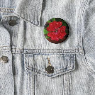 Bóton Redondo 5.08cm Flor vermelha bonito do cravo-da-índia com foto