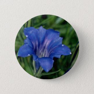Bóton Redondo 5.08cm Flores azuis da genciana