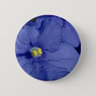 Bóton Redondo 5.08cm Flores azuis da violeta africana