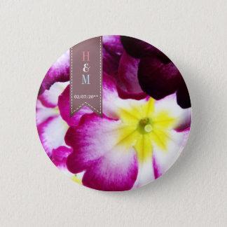 Bóton Redondo 5.08cm Flores coloridas que Wedding o botão do favor