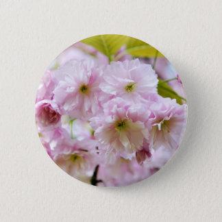 Bóton Redondo 5.08cm Flores cor-de-rosa na árvore de cereja japonesa na