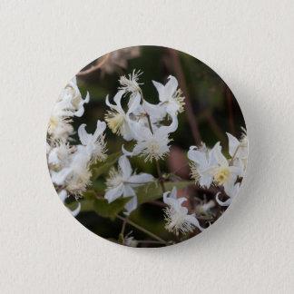 Bóton Redondo 5.08cm Flores da alegria do viajante (brachiata do