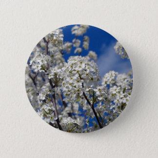 Bóton Redondo 5.08cm Flores da pera de Bradford