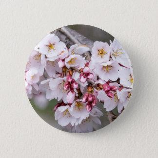 Bóton Redondo 5.08cm Flores de cerejeira