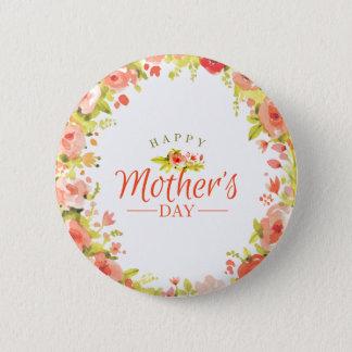 Bóton Redondo 5.08cm Flores do dia das mães