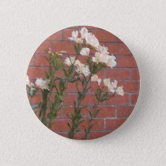 Bóton Redondo 5.08cm Flores no tijolo