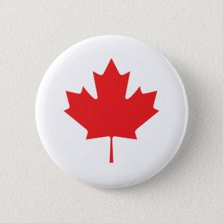 Bóton Redondo 5.08cm Folha de bordo canadense