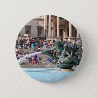Bóton Redondo 5.08cm Fonte, quadrado de Trafalgar, Londres, Inglaterra