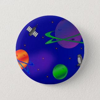 Bóton Redondo 5.08cm Fora deste botão do espaço do mundo