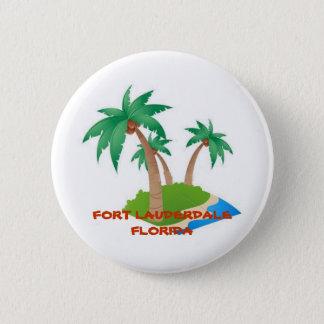 Bóton Redondo 5.08cm Fort Lauderdale Florida, botão tropical das férias