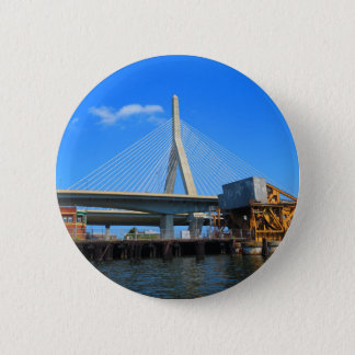 Bóton Redondo 5.08cm Foto da ponte de Boston em presentes