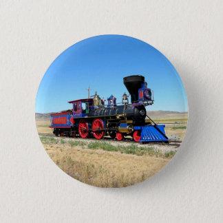 Bóton Redondo 5.08cm Foto locomotiva do trem do motor de vapor