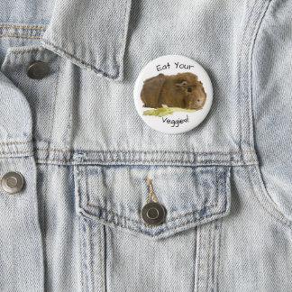 Bóton Redondo 5.08cm Fotografia adorável do aipo comer da cobaia